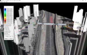 HTZC 5G simulation overlaid on a 3D map