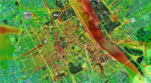 Coverage map on high-resolution urban map