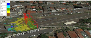 Modelling the impact of footbridge on network coverage