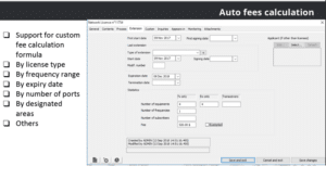 ICS Manager - automatic fee calculation screen